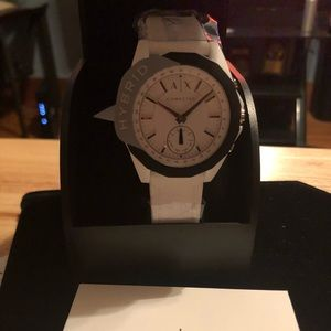 Authentic White Armani A/X Hybrid watch